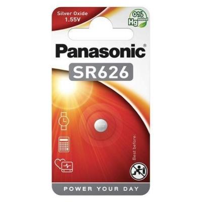 PANASONIC Stříbrooxidové - hodinkové baterie SR-626EL/1B 1,55V (Blistr 1ks)