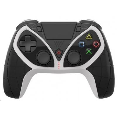 iPega Bluetooth herní ovladač P4012 pro PS3 / PS4 / PS5, iOS/Android/Windows, černo-bílá