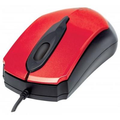 MANHATTAN Myš Edge, USB optická, 1000 dpi, červená