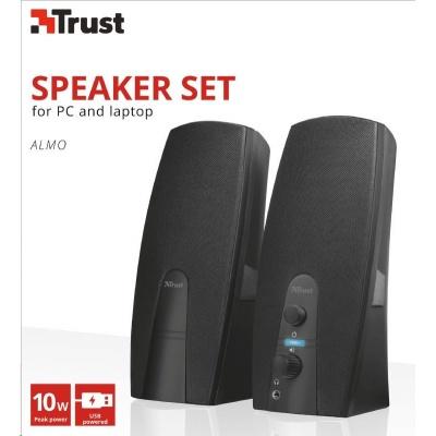 TRUST reproduktory Almo 2.0 speaker set - černé