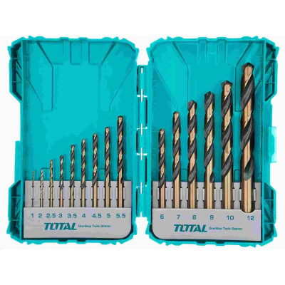 Total TACSDL51501 Vrtáky, sada 15ks, HSS