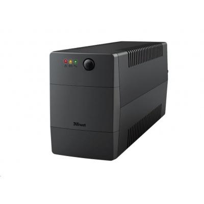 TRUST UPS Paxxon 800VA UPS with 2 standard wall power outlets