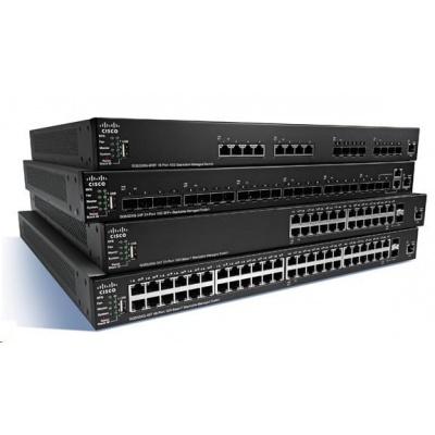 Cisco switch SG350X-24PD, 20x10/100/1000, 4x2.5GbE, 2xSFP+, 2x10GbE SFP+/RJ-45, PoE - poškozený obal