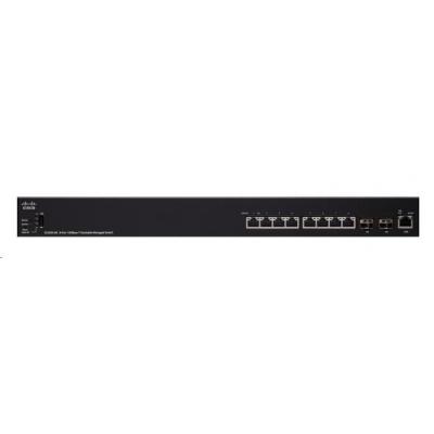 Cisco switch SX350X-08. 6x10GbE, 2x10GbE SFP+/RJ-45