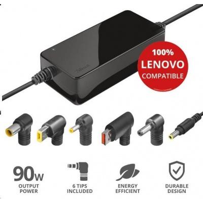 TRUST napájecí adaptér MAXO pro notebooky LENOVO 90W, vč. koncovek