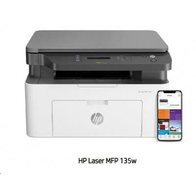 HP Laser 135W - (20str/min, A4, USB, Wi-Fi, Print/Scan/Copy)