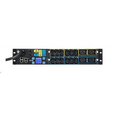 Eaton rozvodný panel ePDU: Řízené IEC - 2U, In: IEC60309 32A 1P - Out: 12xC13:4xC19