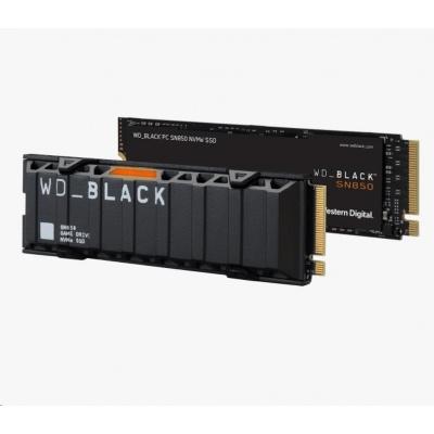 WD BLACK SSD NVMe 2TB PCIe SN850,Gen4 , (R:7000, W:5100MB/s)+Chladič