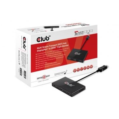 Club3D Video hub MST (Multi Stream Transport) 1x DisplayPort 1.2 na 3x HDMI 1.4