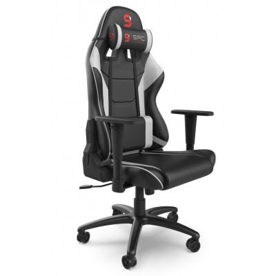 SPC Gear SR300 V2 WH herní židle černo-bílá - kožená