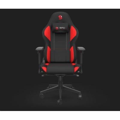 SPC Gear herní židle SR600F RD, textil, černo-červená