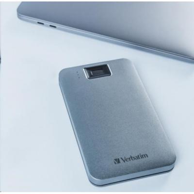 "VERBATIM externí HDD 2.5"" 2TB, Executive Fingerprint Secure, USB 3.2 Gen 1 / USB-C, šedá"