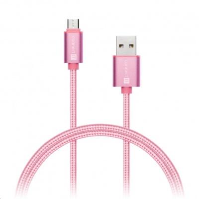 CONNECT IT Wirez Premium Metallic micro USB - USB, rose gold, 1m