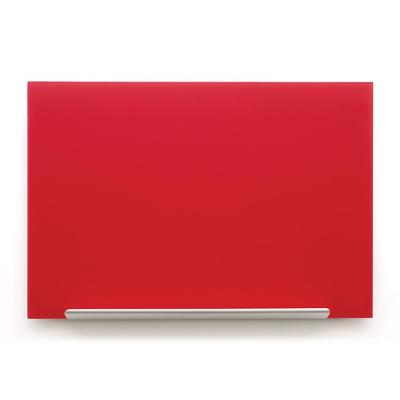 Skleněná tabule Diamond glass červená 99,3x55,9 cm