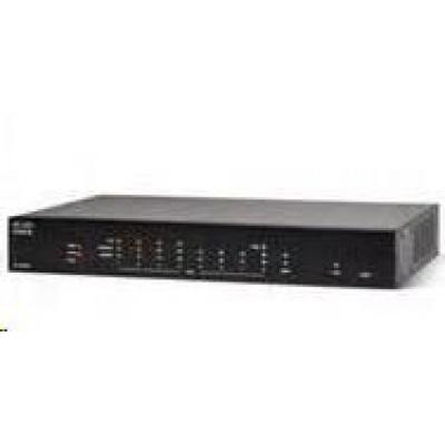 Cisco RV260P VPN firewall router, 8x GbE LAN (4x PoE, 60W), 1x RJ45/SFP GbE WAN