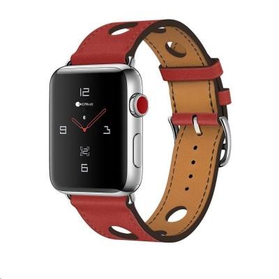 COTEetCI kožený řemínek pro Apple Watch 42 / 44mm červená