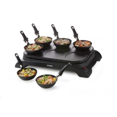 DOMO DO8710W Party lívanečník s wok pánvičkami