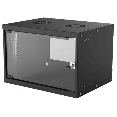 """Intellinet 19"""" BASIC rozvádzač 6U/400mm, čierny, rozložený flatpack"""