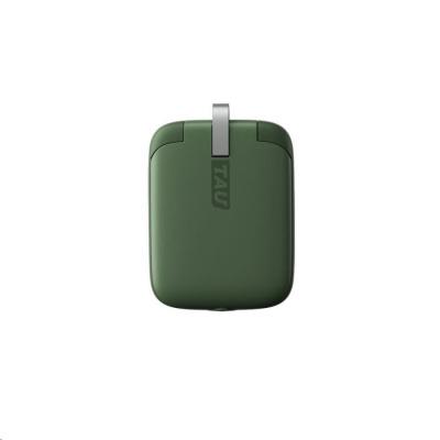 Rolling Square TAU – mini powerbanka 3v1, 1400 mAh, zelená