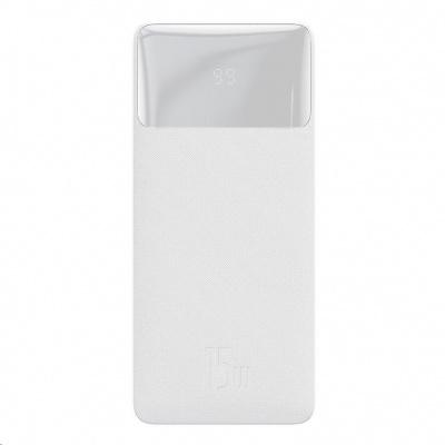 Baseus Bipow Powerbanka s digitálním displejem 30000mAh 15W bílá