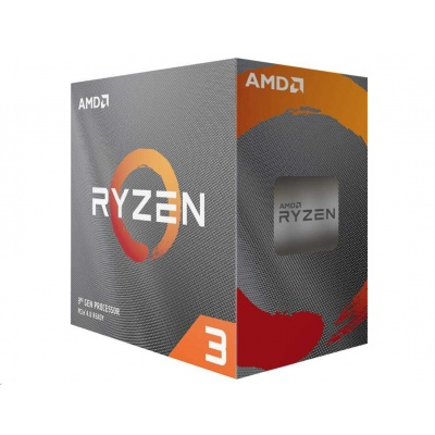 CPU AMD RYZEN 3 3100, 4-core, 3.6 GHz (3.9 GHz Turbo), 18MB cache, 65W, socket AM4, Wraith Stealh