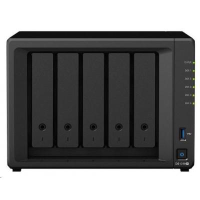 Synology DS1019+ DiskStation (4C/CeleronJ3455/1,5-2,3GHz/8GBRAM/5xSATA/2xM.2/2xUSB3.0/1xeSATA/2xGbE)