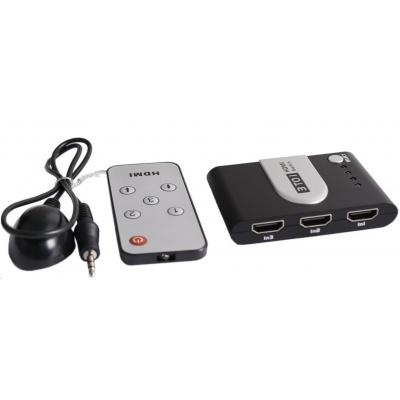 PREMIUMCORD HDMI switch 3:1 s dálkovým ovladačem