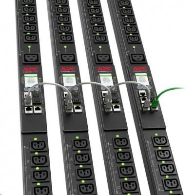 APC Rack PDU 9000 Switched, ZeroU, 32A 230V, (21)C13&(3)C19, EC 60309 32 A 2P + E 3m