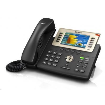 """Yealink SIP-T29G IP telefon, 4,3"""" 480x272 LCD, 27 prog.tl., 2x 10/100/1000, PoE, 16x SIP, 1x USB, bez adaptéru"""