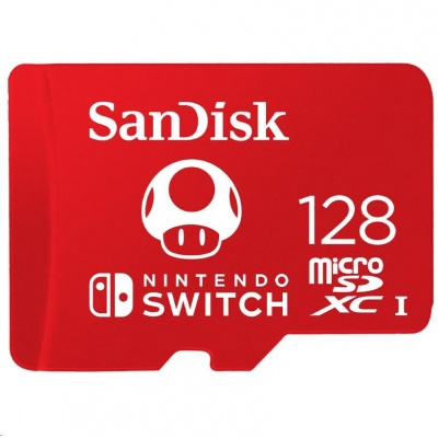 SanDisk MicroSDXC karta 256GB for Nintendo Switch (R:100/W:90 MB/s, UHS-I, V30,U3, C10, A1) licensed Product,Super Mario