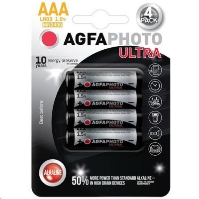 AgfaPhoto Ultra alkalická baterie LR03/AAA, 4ks