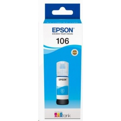 EPSON ink bar 106 EcoTank Cyan ink bottle