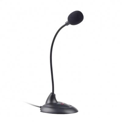 """C-TECH stolní mikrofon MIC-04E, 3,5"""" stereo jack, 1,5m"""