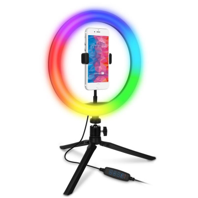 """CONNECT IT Selfie10RGB kruhové 10"""" RGB LED světlo"""