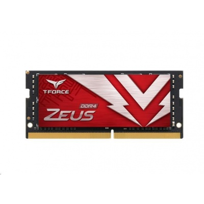 SODIMM DDR4 8GB 3200MHz, CL22, (KIT 1x8GB), T-FORCE ZEUS, Red