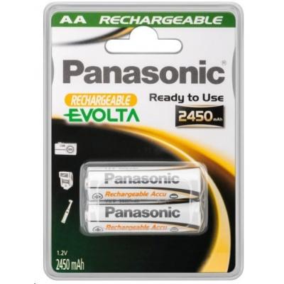 PANASONIC Nabíjecí baterie EVOLTA (Ready to Use - pro Náročné podmínky) HHR-3XXE/2BC  2450mAh AA 1,2V (Blistr 2ks)