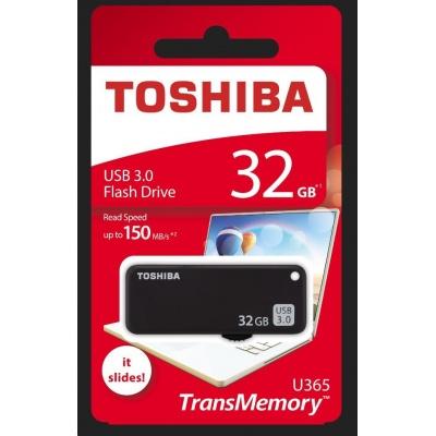 TOSHIBA Flash Disk 32GB U365, USB 3.0, černá