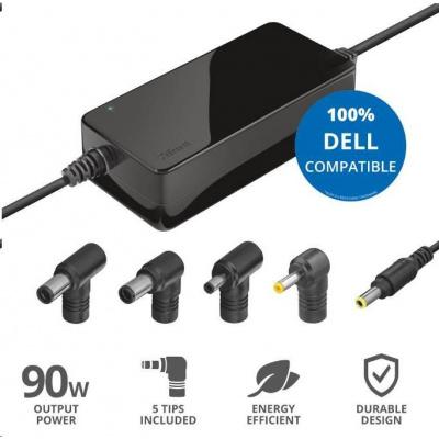 TRUST napájecí adaptér MAXO pro notebooky DELL 90W, vč. koncovek
