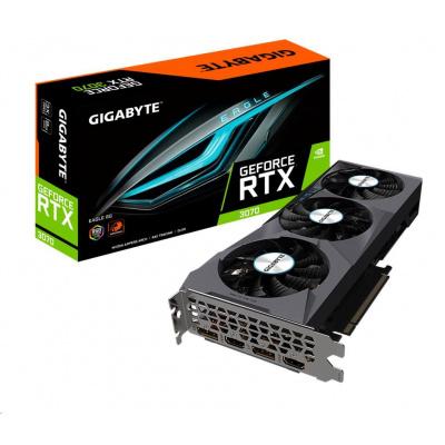 GIGABYTE VGA NVIDIA GeForce RTX 3070 EAGLE 8G Rev. 2.0, RTX 3070 LHR, 8GB GDDR6, 2xDP, 2xHDMI