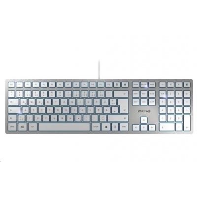 CHERRY klávesnice KC 6000 SLIM, USB, EU, stříbrná