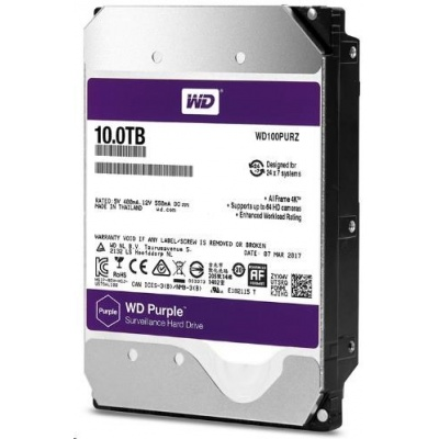 WD PURPLE WD102PURZ 10TB SATA/600 256MB cache, Low Noise