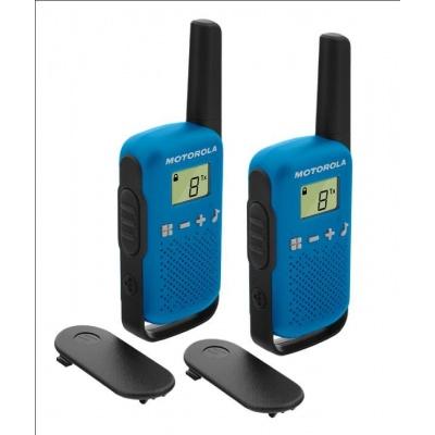 Motorola vysílačka TLKR T42 (2 ks, dosah až 4 km), modrá