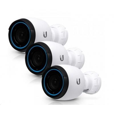UBNT UVC-G4-PRO-3 [3840 x 2160 (4K UHD), 24fps, H.264, 4.24 - 12.66 mm,úhel záběru 108° až 37°, IR, mikrofon] 3-pack