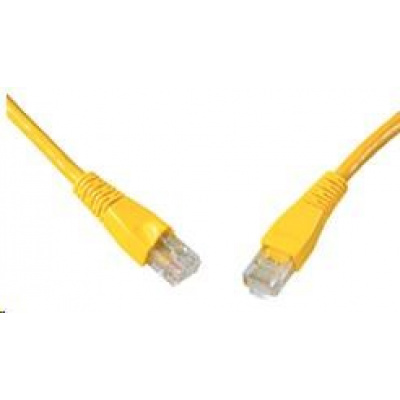 Solarix Patch kabel CAT6 UTP PVC 5m žlutý snag-proof C6-114YE-5MB
