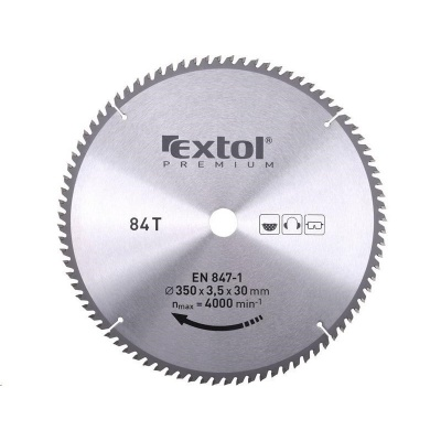 Extol Premium (8803254) kotouč pilový s SK plátky, 350x2,5x30mm, 84T