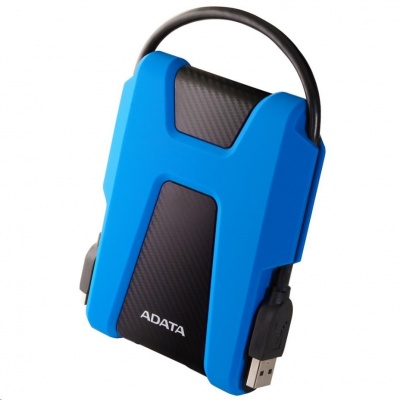 """ADATA Externí HDD 1TB 2,5"""" USB 3.1 AHD680, modrý (gumový, nárazu odolný)"""