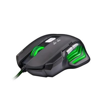 C-TECH myš AKANTHA, herní, zelené podsvícení, 2400 DPI, USB