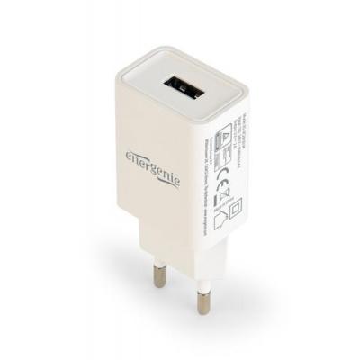 GEMBIRD USB nabíječka univerzální, bílá (5V/2100mA)