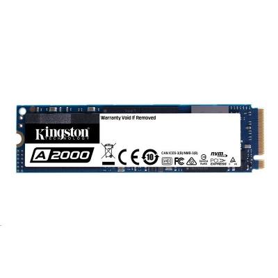 Kingston SSD 1000GB A2000 M.2 NVMe™ PCIe Gen 3.0 x 4 Lanes (R 2200MB/s; W 2000MB/s)