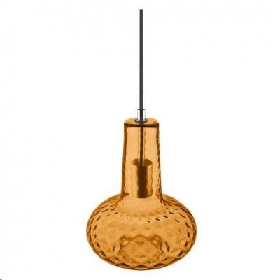 LEDVANCE VINTAGE 1906 CARVED PENDANT PEAR Glass, Orange